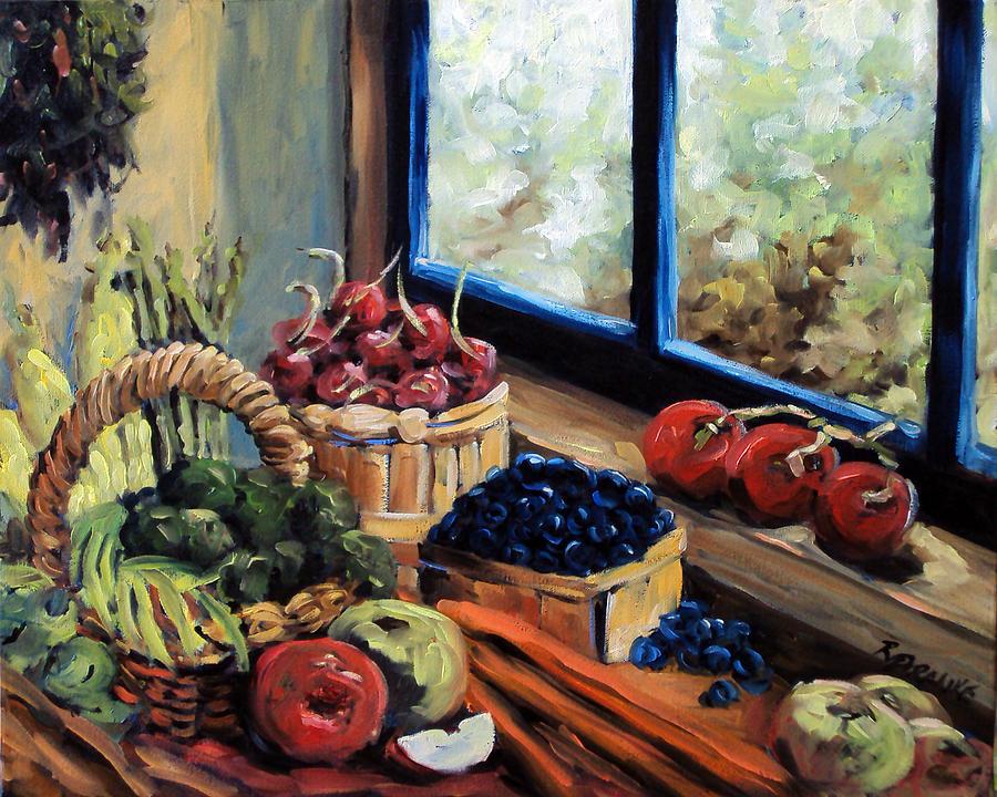 Kitchen Painting - Good Harvest by Richard T Pranke
