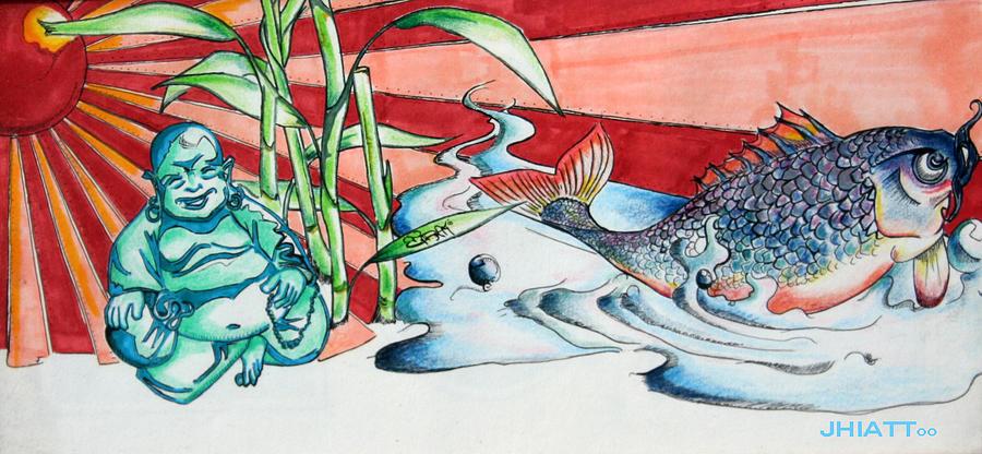 Illustrations Drawing - Good Luck by Justin Hiatt