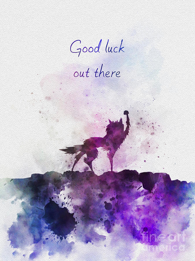 Fantastic Mr Fox Mixed Media - Good Luck Out There by My Inspiration