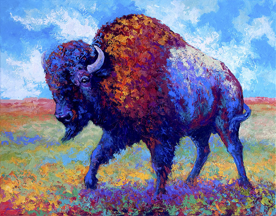 Bison Painting - Good Medicine by Marion Rose