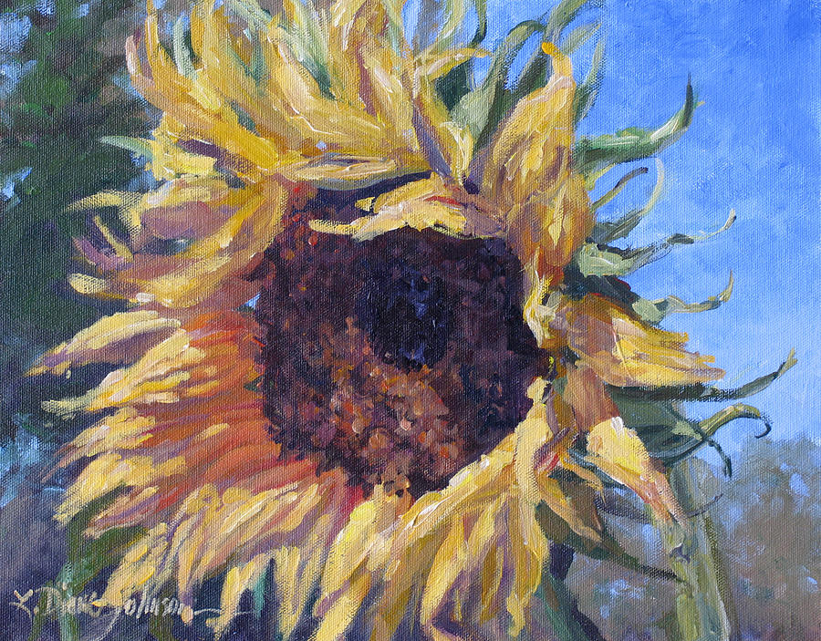 Sunflower Landscape Painting - Good Mornin by L Diane Johnson
