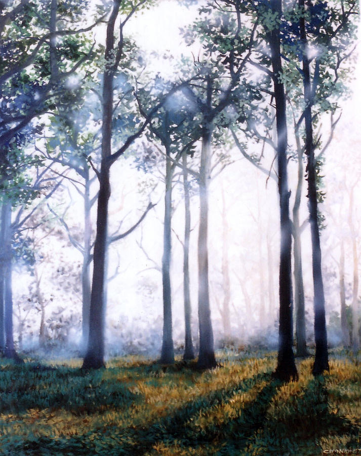 Oil Painting - Good Morning by Chonkhet Phanwichien