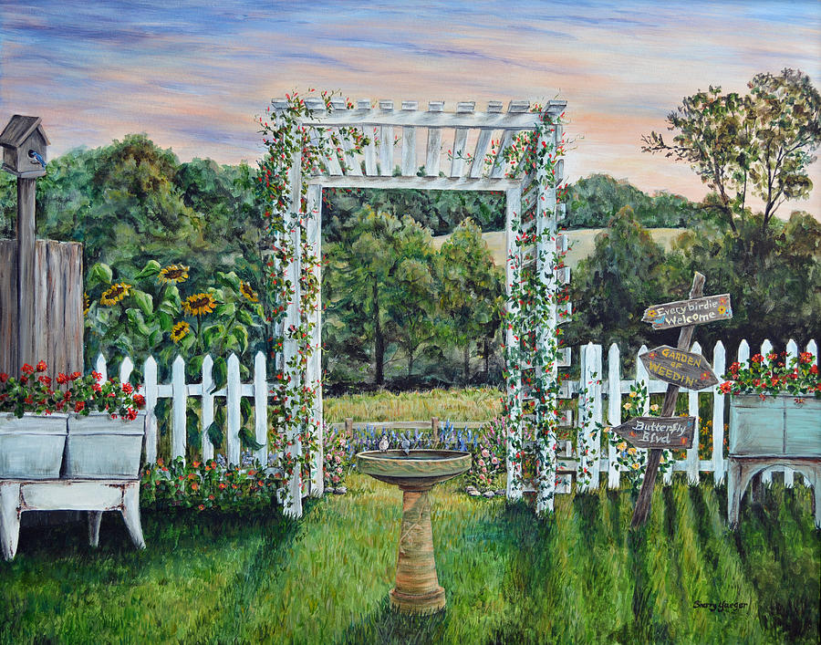 Good Morning Garden Painting By Sherry Montgomery