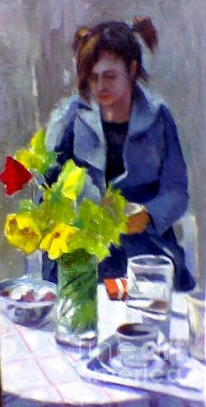 Flowers Painting - Good Morning  by George Siaba