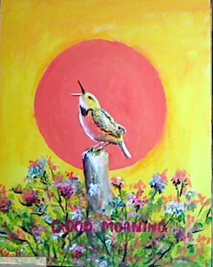 Floral Painting - Good Morning by M Bhatt