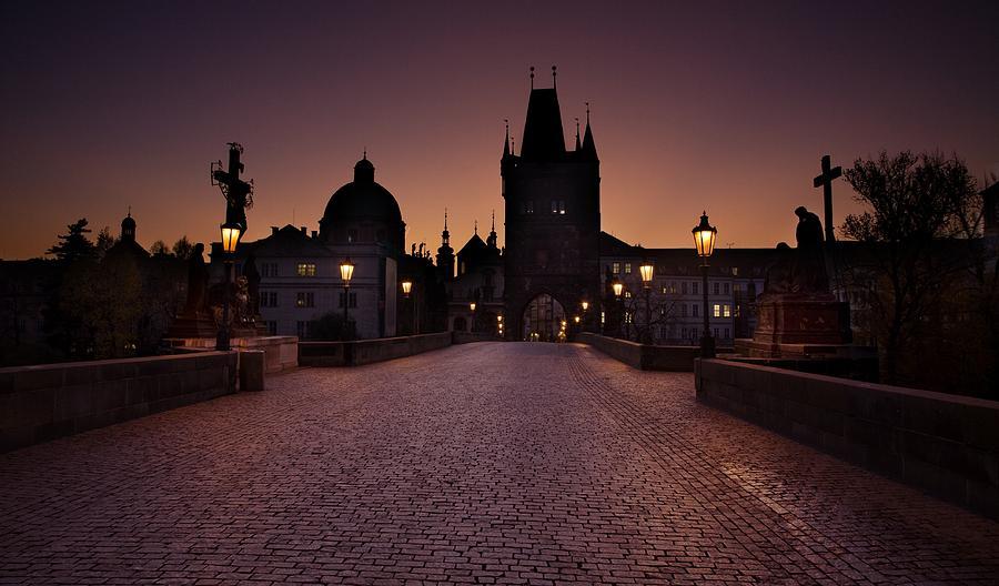 Bridge Photograph - Good Morning Prague  by Jaroslaw Blaminsky