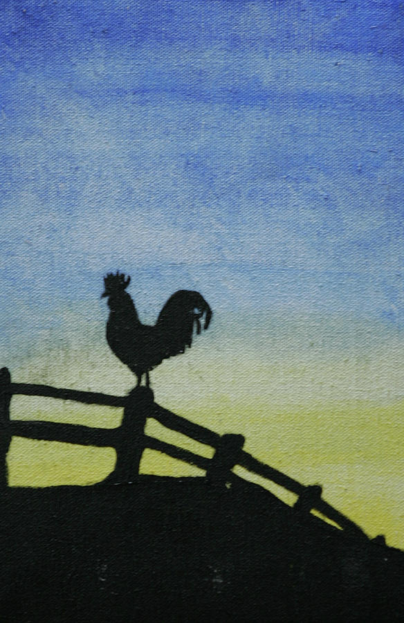 Rooster Painting - Good Morning Sunshine by Robin Lee
