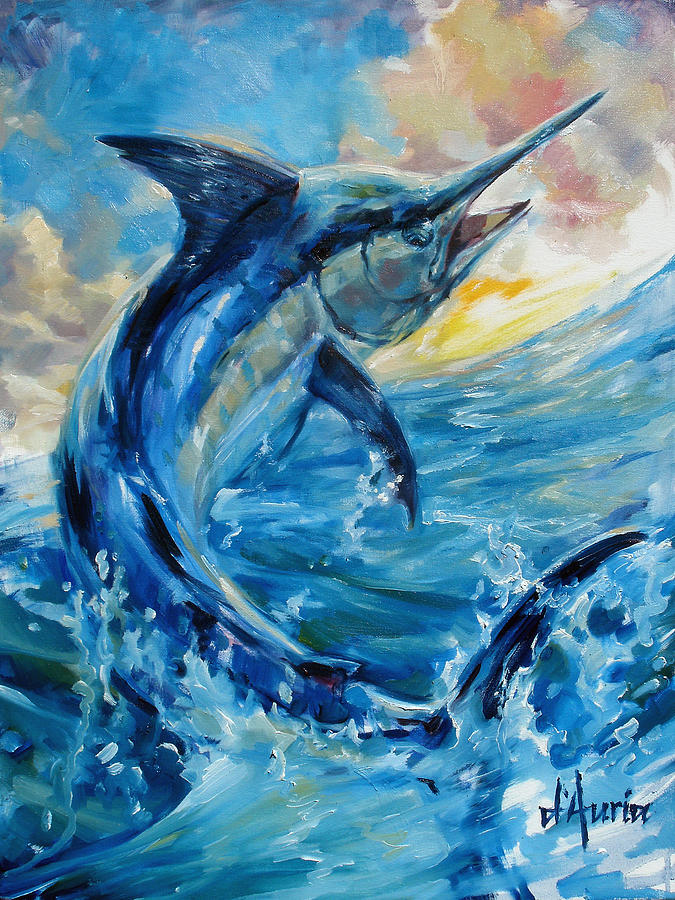 Fish Painting - Good Morning by Tom Dauria