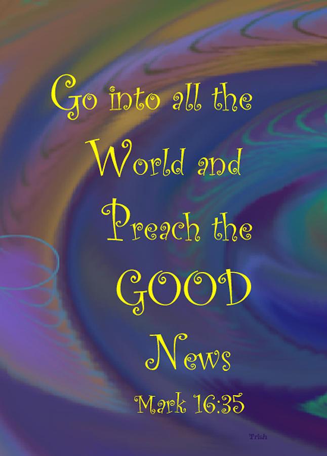 Christian Digital Art - Good News by Trish Jenkins