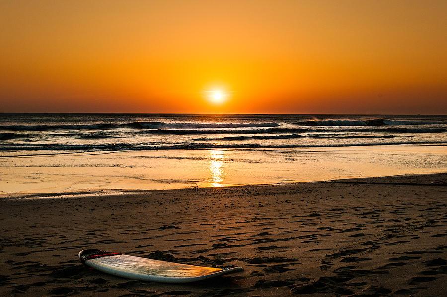 Good Night Surf Photograph by Heather Hubbard