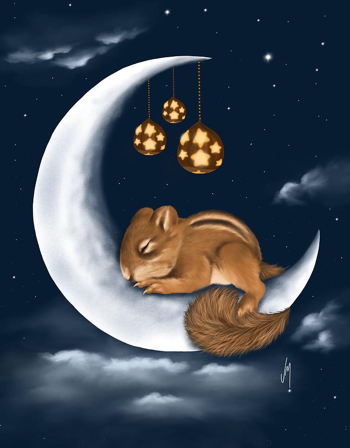 Good Night Painting By Veronica Minozzi