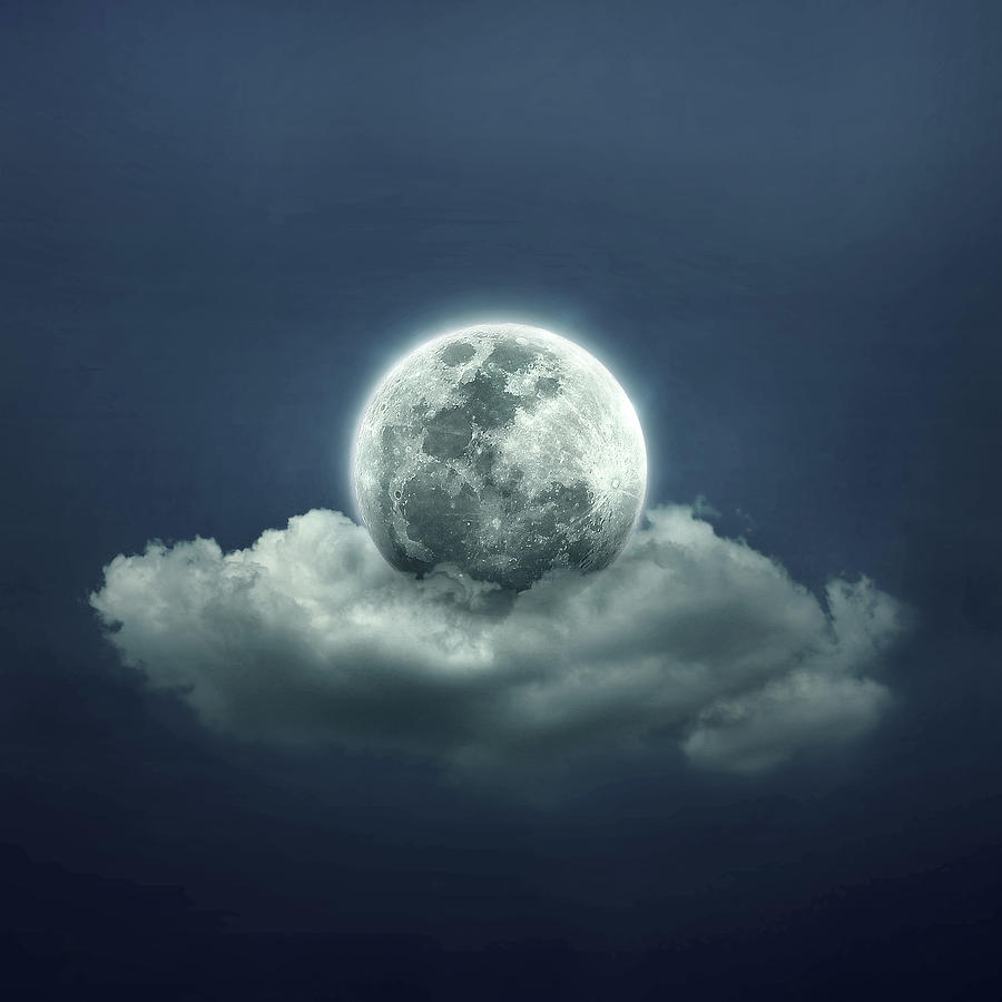 Blue Digital Art - Good Night by Zoltan Toth