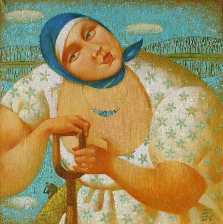 Country Living Painting - Good song by Nadia Egorova