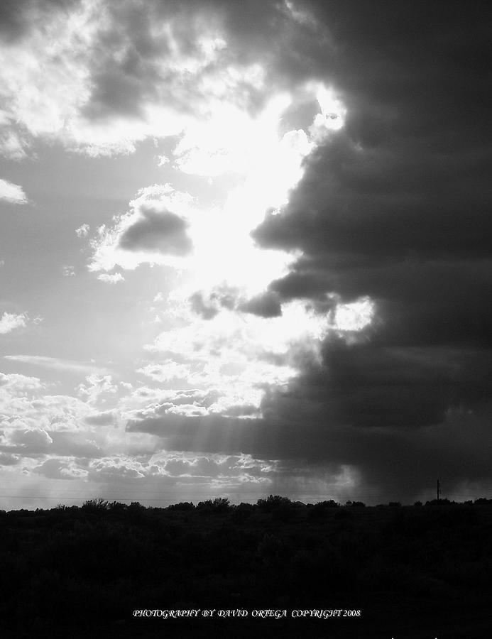 Black And White Photograph - Good Vs. Evil by David Ortega
