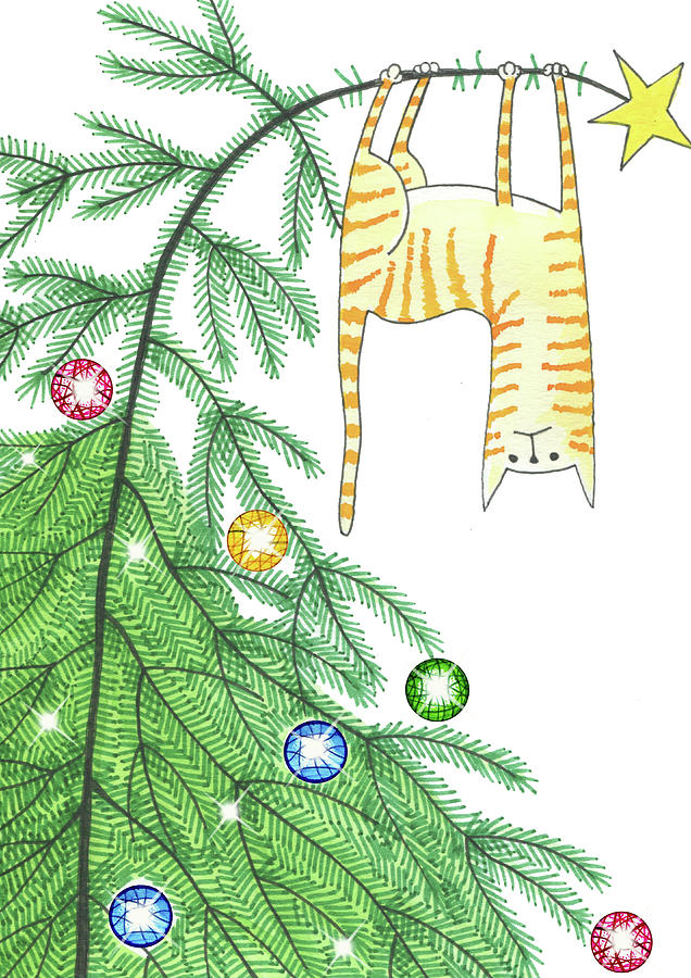 Christmas Drawing - Goodbye, Christmas Tree  by Andrew Hitchen