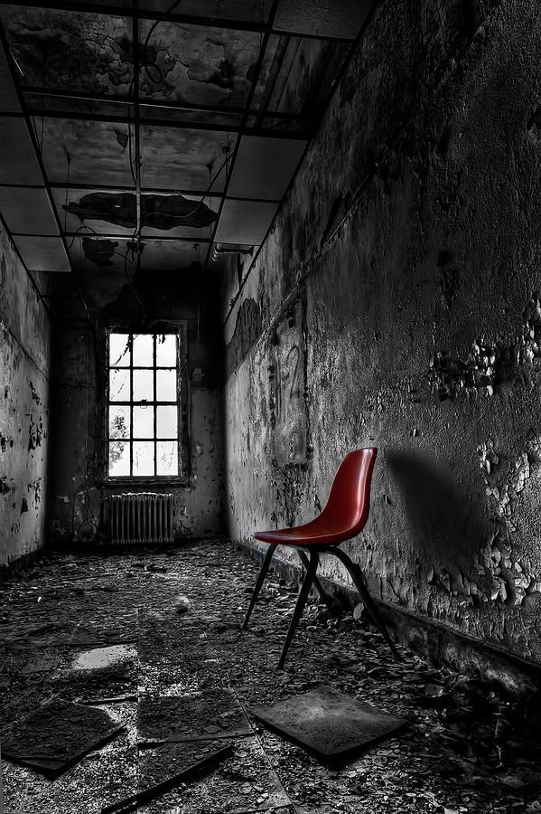 Chair Photograph - Goodbye Inocence by Evelina Kremsdorf