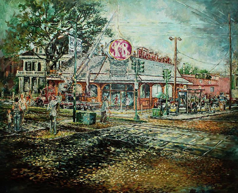 K&b Drug Store Painting - Goodbye K N B by Charles Simms