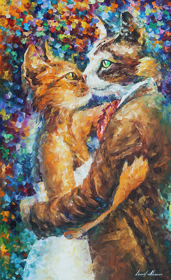Painting Painting - Goodbye My Miau  by Leonid Afremov