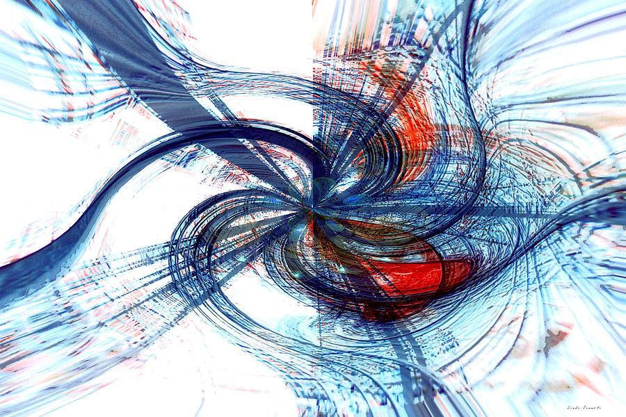 Red Digital Art - Goodbye Sky by Linda Sannuti