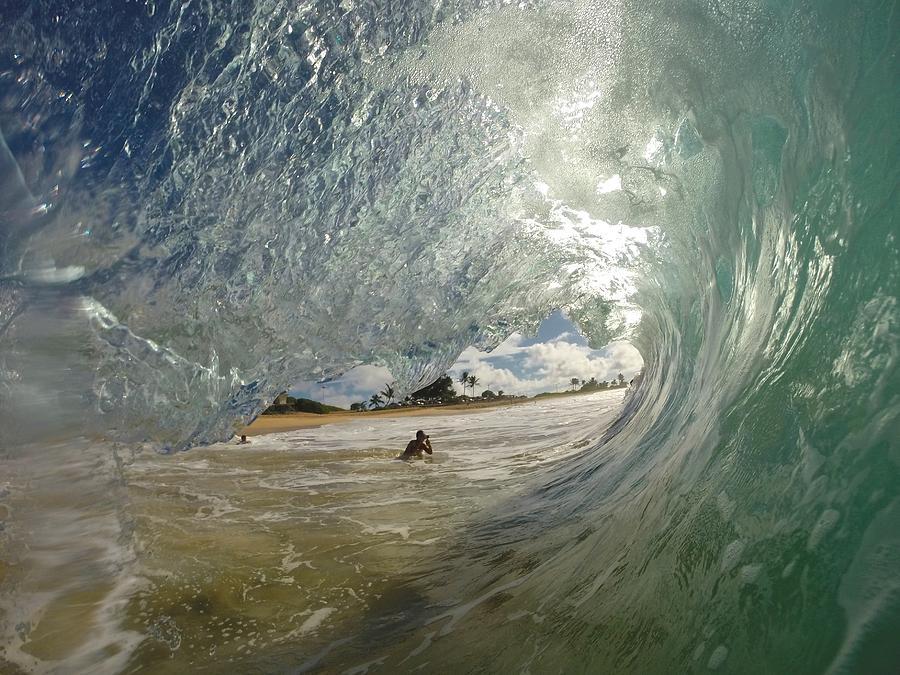 Wave Photograph - Goodbye Summer by Benen  Weir