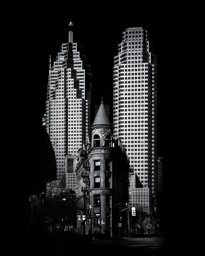 Brian Carson Photograph - Gooderham Flatiron Building And Toronto Downtown No 2 by Brian Carson