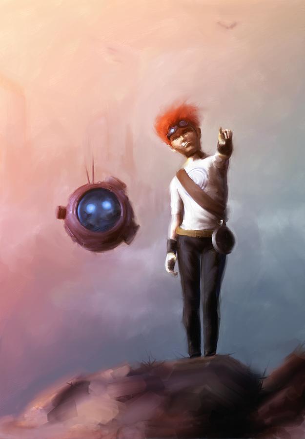 Sci Fi Digital Art - Goodkid by Jamie Fox