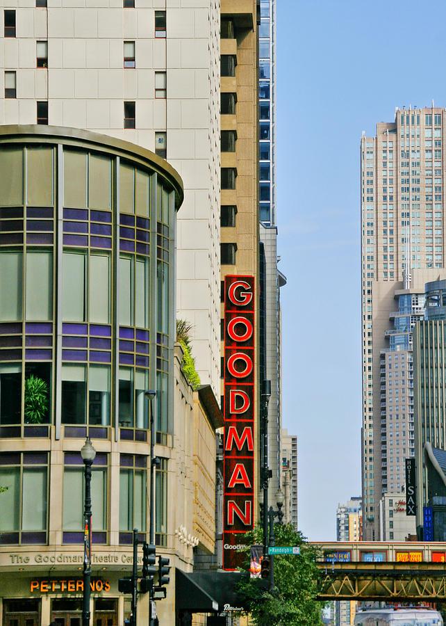 Goodman Photograph - Goodman Memorial Theatre Chicago by Christine Till