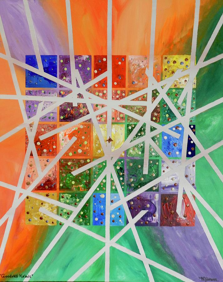 Abstract Painting - Goodness Knows by Muneer McAdams-Mahmoud