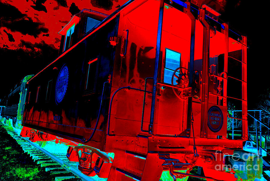 Caboose Photograph - Goodnight Caboose by Chuck Taylor