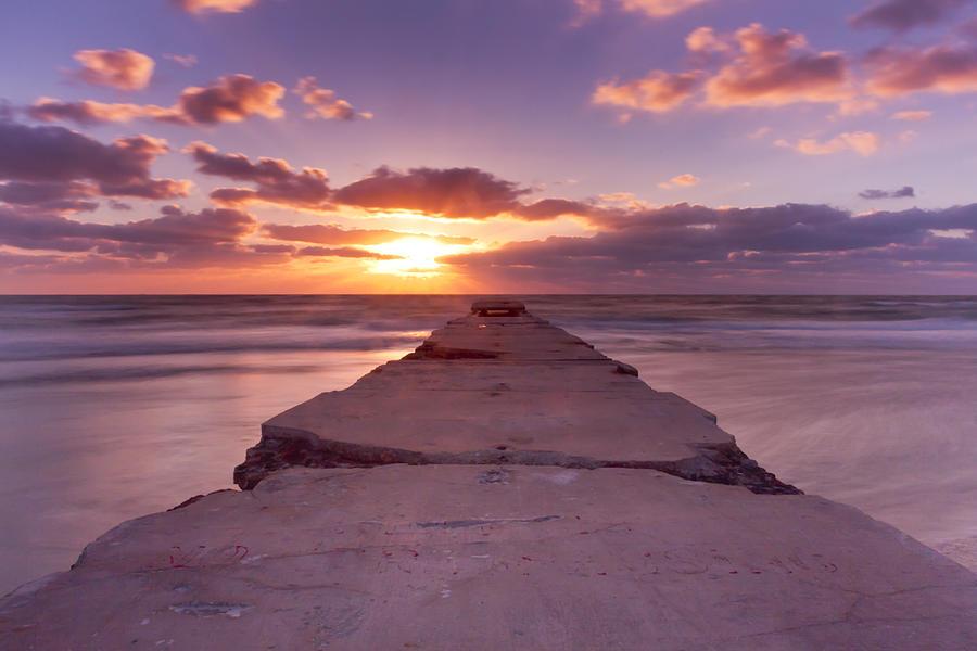 Pier Photograph - Goodnight Sun by Nicholas Evans