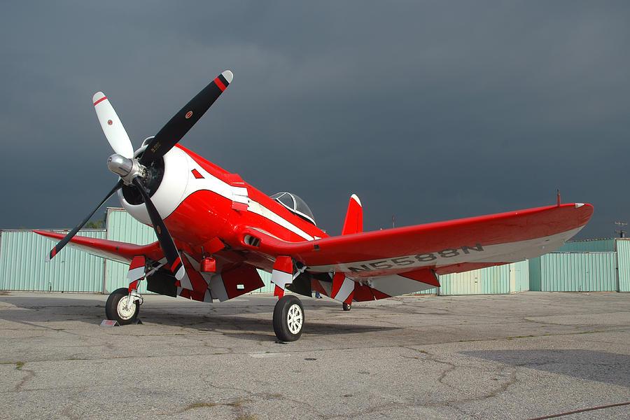 Airplane Photograph - Goodyear F2g-1 Corsair N5588n by Brian Lockett