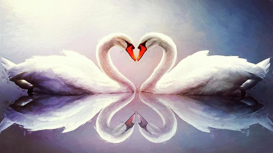 Goose Love by Bill Tiepelman