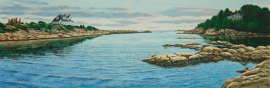 Seascape Painting - Goose Neck Cove by Bruce Dumas