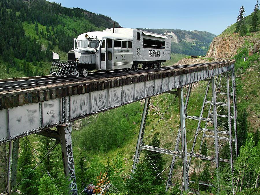 Steam Train Photograph - Goose On Cascade Trestle by Ken Smith