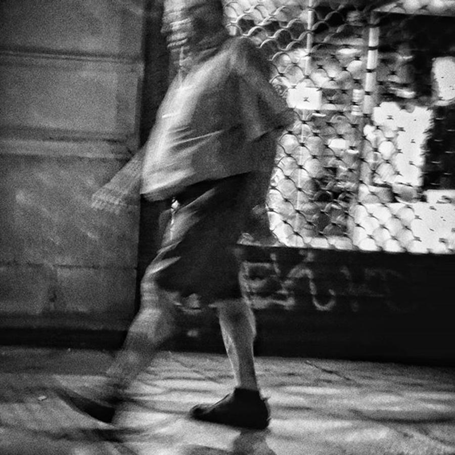 Night Photograph - Goose Step  #man #walk #people by Rafa Rivas