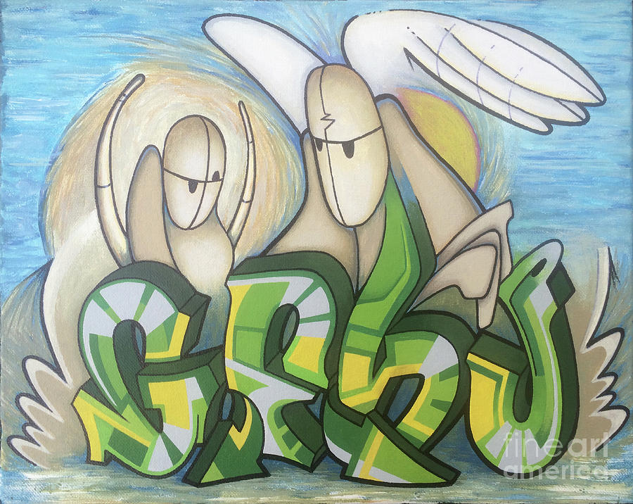 Goosp Painting by Kevin J Graham