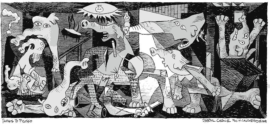 GOP Guernica by Daryl Cagle
