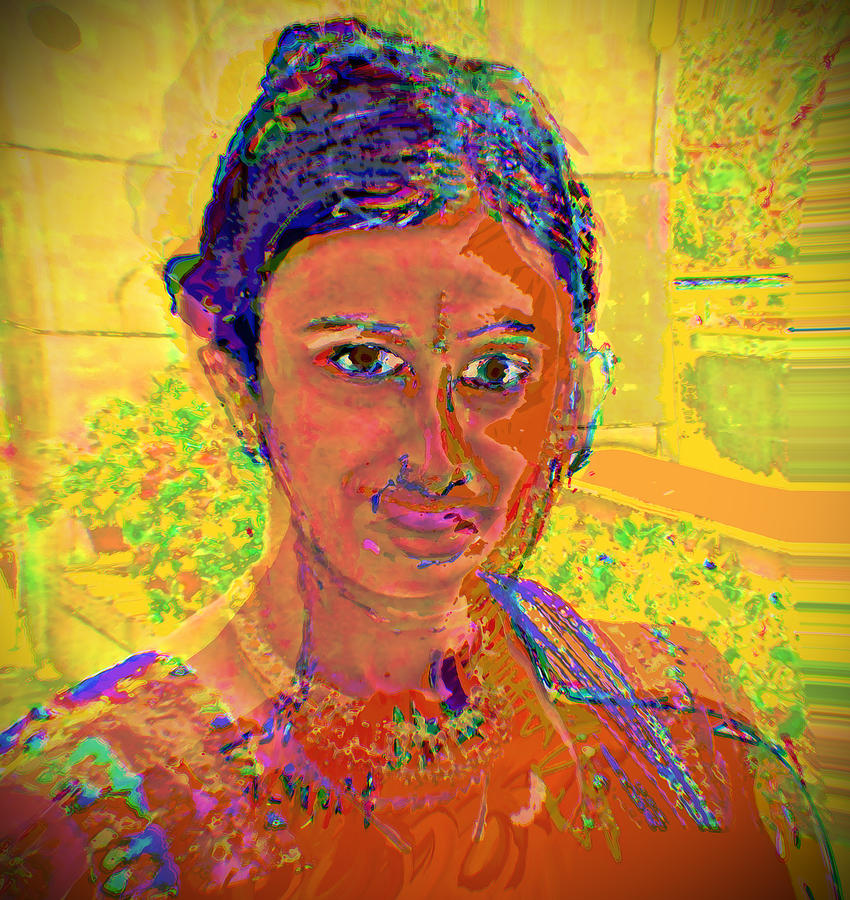 Portrait Digital Art - Gopika by Noredin Morgan