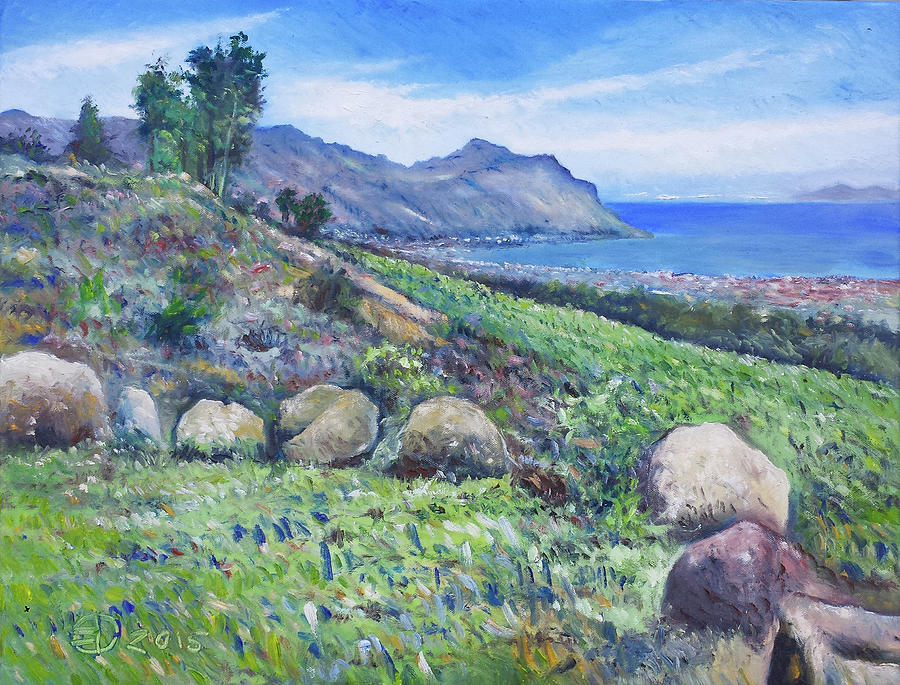 Impressionism Painting - Gordons Bay Cape Town South Africa by Enver Larney