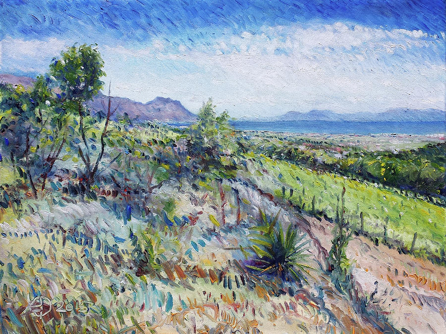 Oil Painting Painting - Gordons Bay Western Cape South Africa by Enver Larney