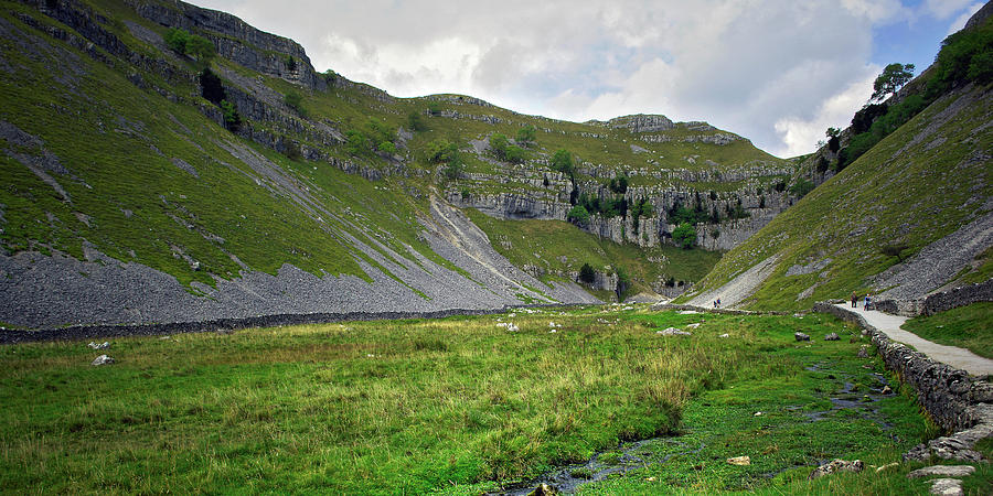 Valley Photograph - Goredale Scar by Steve Watson