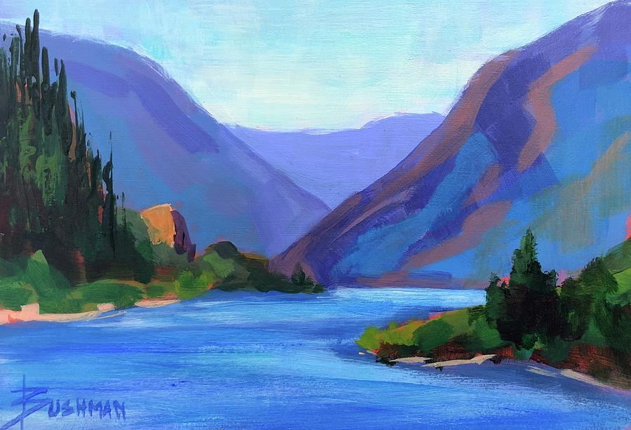 River Painting - Gorge Classic by Laurel Bushman
