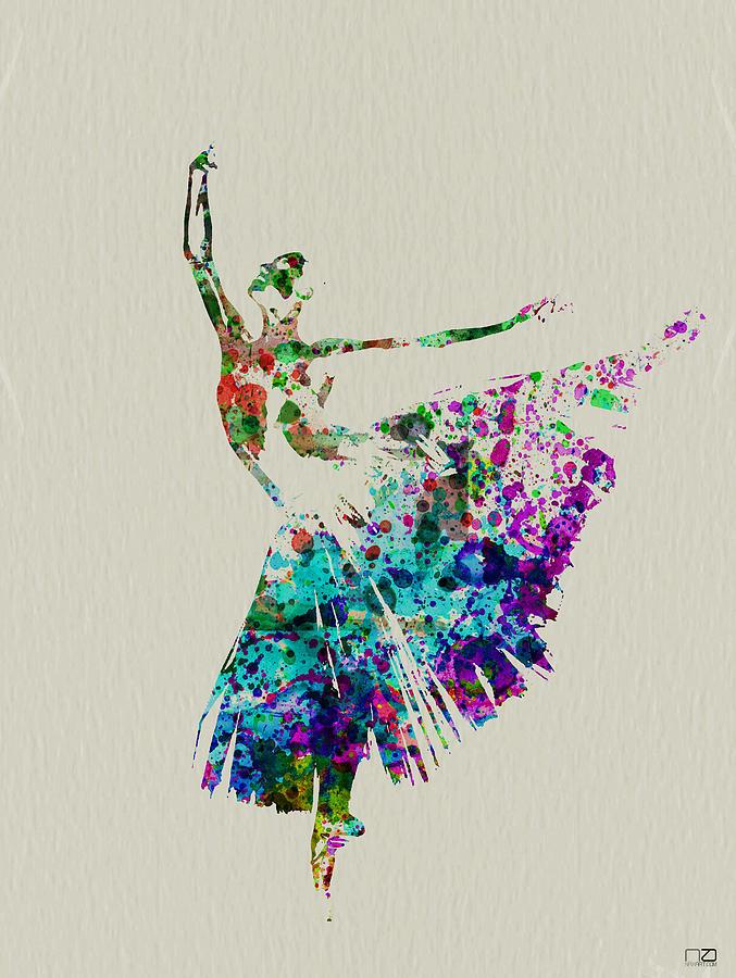 Ballerina Painting - Gorgeous Ballerina by Naxart Studio