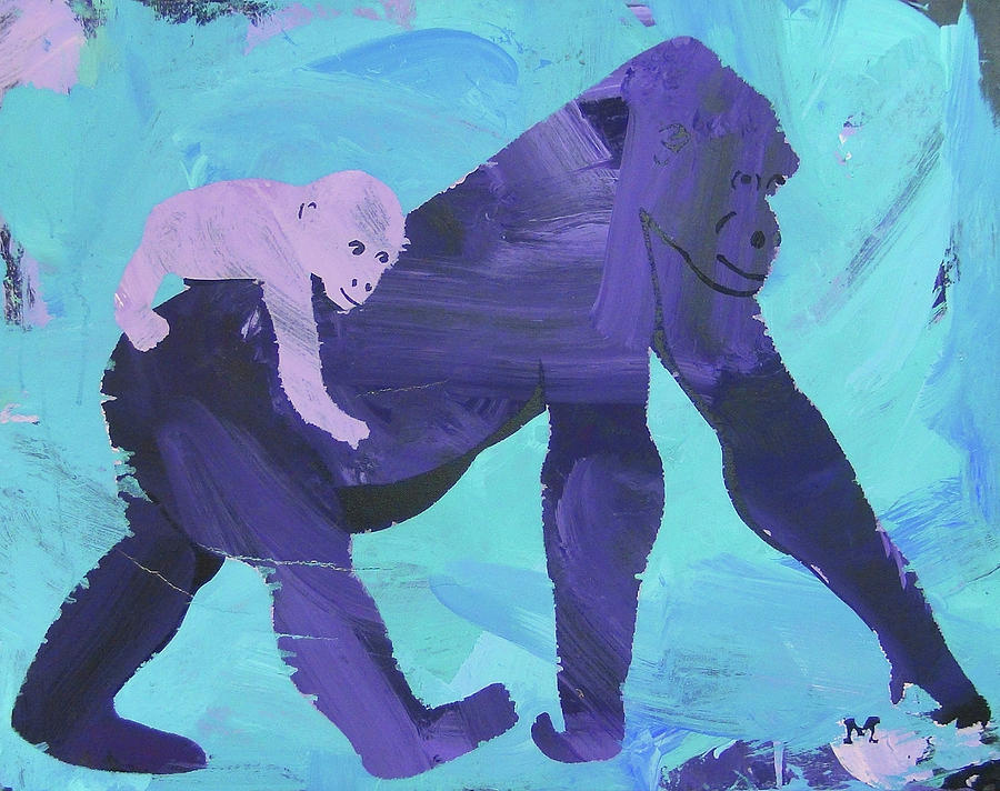Gorilla Painting - Gorgeous Gorilla by Candace Shrope