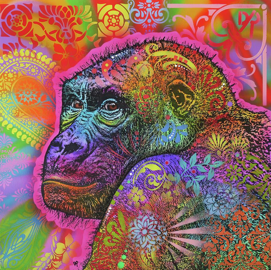 Gorilla Painting - Gorilla by Dean Russo Art