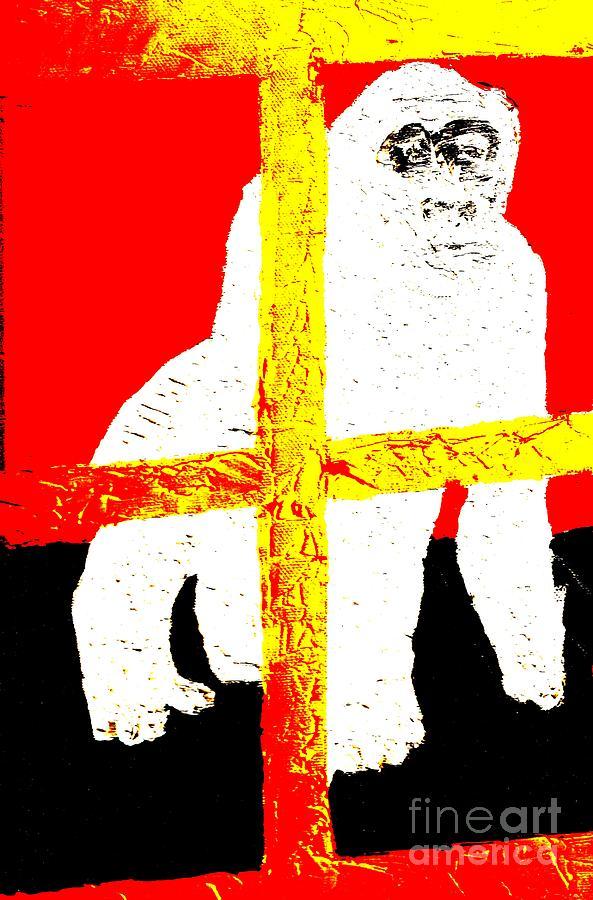 Gorilla Painting - Gorilla Hogle Zoo 1 by Richard W Linford