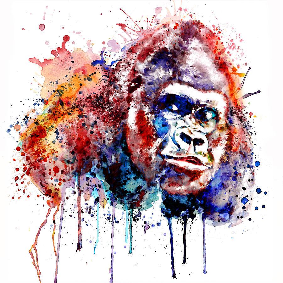 Gorilla Painting - Gorilla by Marian Voicu
