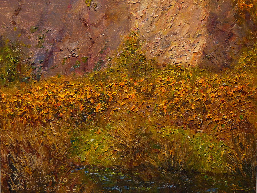 Gorse Painting - Gorse Near The Swamp by Terry Perham