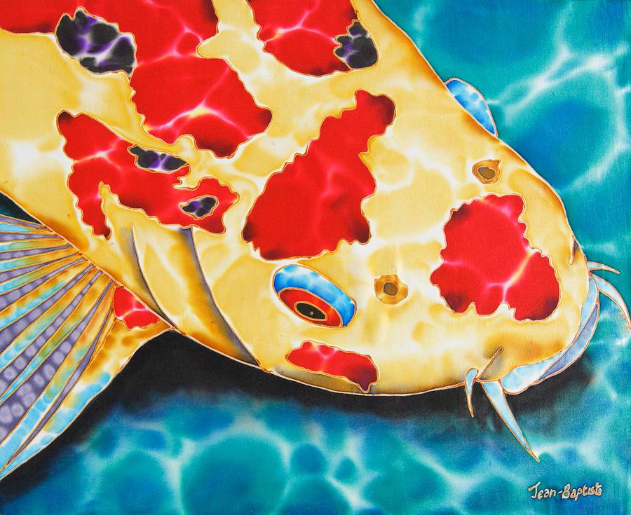 Fish Painting - Goshiki Koi by Daniel Jean-Baptiste