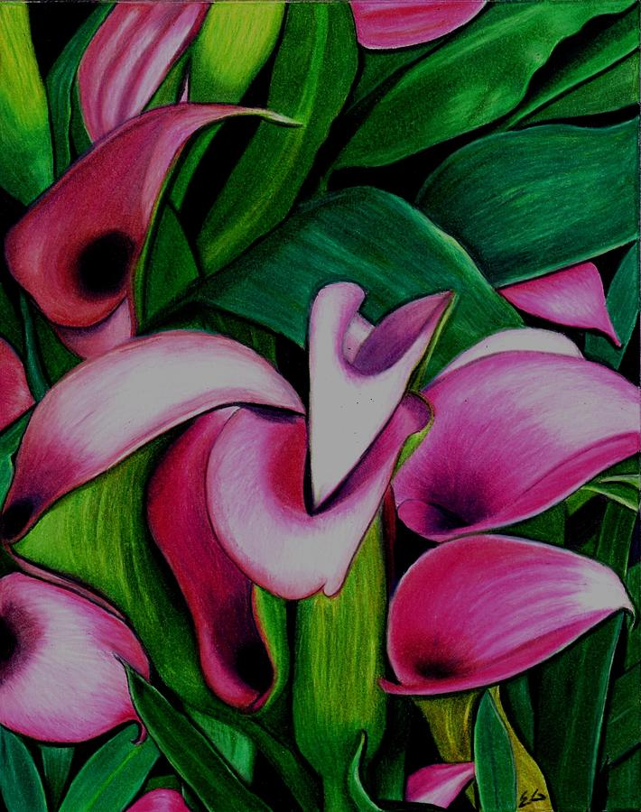 Lilies Painting - Gossip by Ekta Gupta